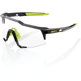 100% Speedcraft Lunettes Grand, gloss black/photochromic